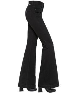 Stella Mccartney   Flared Stretch Cotton Denim Jeans