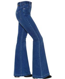 Stella Mccartney | Flared Stretch Cotton Denim Jeans