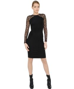 Stella Mccartney | Animalier Tulle Jersey Dress