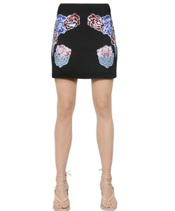 Stella Mccartney | Embroidered Stretch Cady Mini Skirt