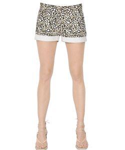 Stella Mccartney | Leopard Printed Cotton Denim Shorts