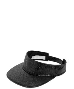 Stella Mccartney | Snake Embossed Faux Leather Visor