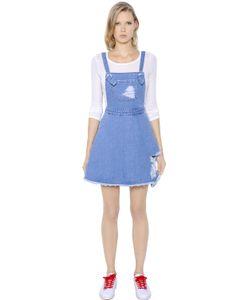 Steve J & Yoni P   Cotton Denim Overall Dress