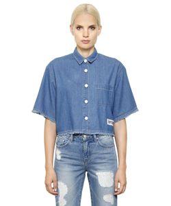 Steve J & Yoni P   Cropped Cotton Denim Shirt