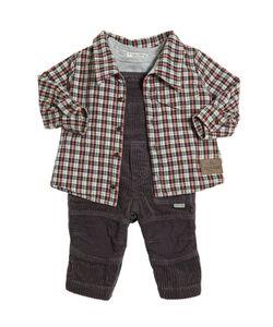STICKY-FUDGE | Organic Cotton Shirt Overalls T-Shirt