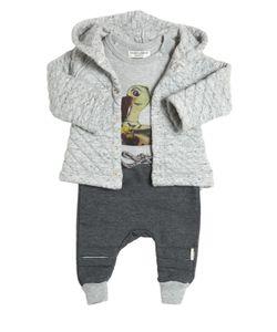 STICKY-FUDGE | Organic Cotton Jacket Pants Bodysuit