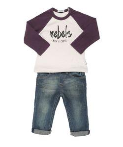 STICKY-FUDGE | Organic Cotton T-Shirt Denim Jeans