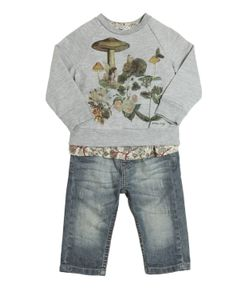 STICKY-FUDGE | Organic Cotton Sweatshirt Top Jeans