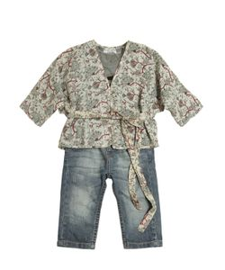STICKY-FUDGE | Organic Cotton Kimono Top T-Shirt Jeans