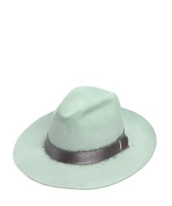 SUPERDUPER   Lapin Fur Felt Hat With Mohair Band