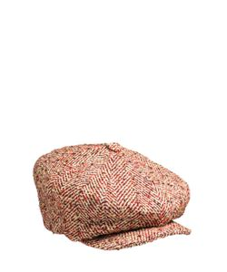 SUPERDUPER   Herringbone Wool Coppola Hat