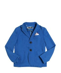 TAGLIATORE JUNIOR | Textured Stretch Cotton Jacket