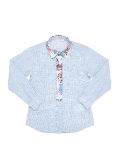 TAGLIATORE JUNIOR | Woven Printed Cotton Poplin Shirt