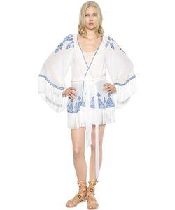 TALITHA | Embroidered Silk Chiffon Kimono Jacket
