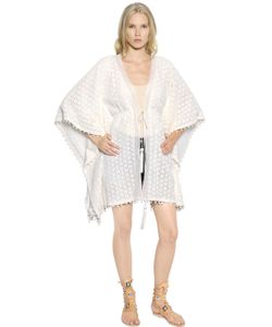 TALITHA | Cotton Crocheted Lace Caftan Cardigan