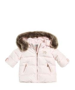 Tartine et Сhocolat | Padded Nylon Jacket W/ Faux Fur Hood
