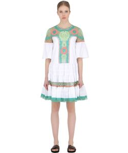 Temperley London | Embroidered Cotton Poplin Lace Dress