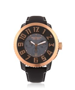 TENDENCE | Chr Steel Black Rose Gold Watch