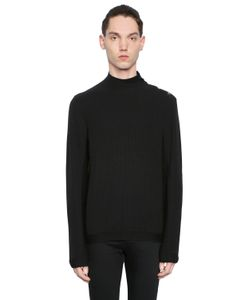 The Kooples | Ribbed Cotton Blend Jersey Sweater