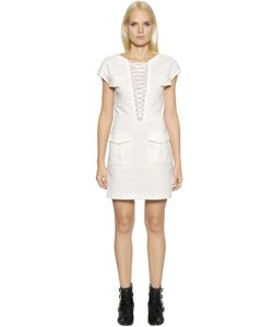 The Kooples | Lace-Up Stretch Cotton Dress