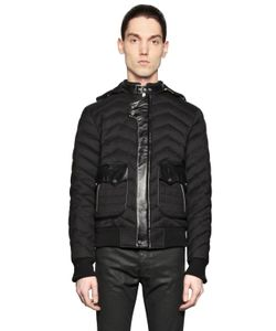 The Kooples | Quilted Wool Blend Flannel Puffer Jacket