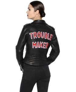 THE LOVERS CLUB | Trouble Maker Leather Biker Jacket