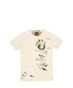 THE RAJ OF INDIA | Printed Faded Cotton T-Shirt