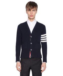 Thom Browne | Intarsia Stripes Cashmere Short Cardigan