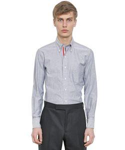 Thom Browne | Cotton Oxford Shirt W/ Grosgrain Detail