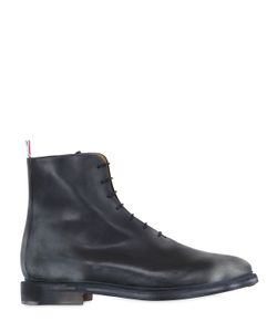 Thom Browne | Sanded Leather Oxford Ankle Boots