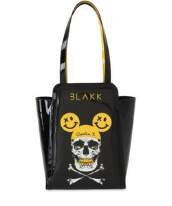 THOMAS BLAKK | Pipkin Skull Faux Leather Tote Bag