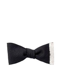 TITLE OF WORK | Vertical Stripe Wool Gabardine Bow Tie