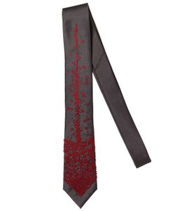 TITLE OF WORK | 6.5cm Tongue Embroidered Silk Twill Tie