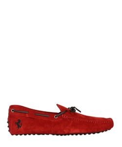 TOD'S FERRARI | Gommino 122 Tie Suede Driving Shoes