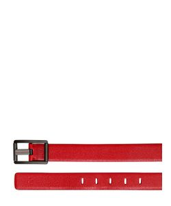 TOD'S FERRARI | 30mm Embossed Leather Belt