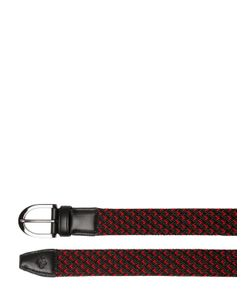 TOD'S FERRARI | 30mm Woven Elastic Leather Belt