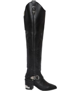 Toga Pulla | 70mm Over The Knee Leather Boots