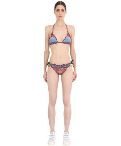TOMMY HILFIGER COLLECTION | Patchwork Striped Lycra Triangle Bikini