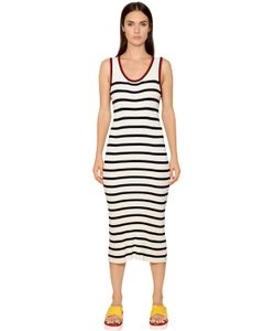 TOMMY HILFIGER COLLECTION | Striped Ribbed Knit Dress