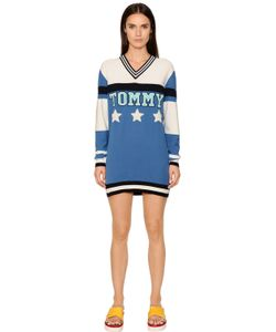 TOMMY HILFIGER COLLECTION | Patchwork Cotton Knit Sweater Dress