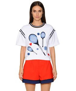 TOMMY HILFIGER COLLECTION | Printed Cotton Jersey Sweatshirt