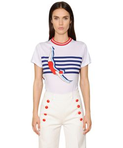 TOMMY HILFIGER COLLECTION | Printed Cotton Jersey T-Shirt