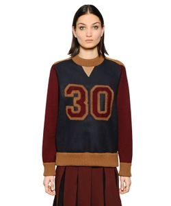 TOMMY HILFIGER COLLECTION | Varsity Color Block Wool Sweater