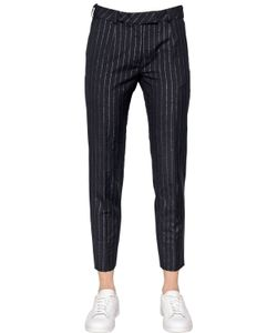 TOMMY HILFIGER COLLECTION | Lurex Pinstriped Wool Linen Pants