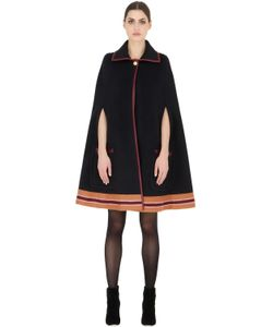 TOMMY HILFIGER COLLECTION | Striped Wool Cape