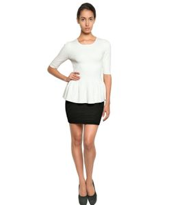 Torn By Ronny Kobo | Jacquard Knit Peplum Top