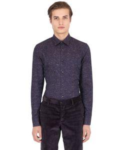 Trussardi | Slub Cotton Blend Twill Shirt