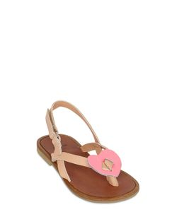 TWO CON ME BY PÈPÈ | Heart Leather Sandals