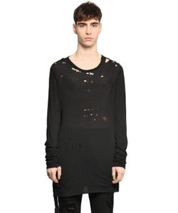 UNRAVEL | Destroyed Cotton Jersey T-Shirt
