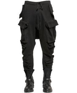 UNRAVEL | Multi Pockets Cotton Fleece Cargo Pants